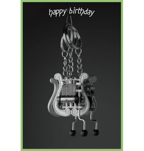 Keychain Lyre - Happy Birthday
