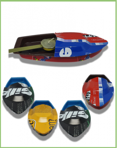 Pop-Pop Boat RECYCLED MATERIALS